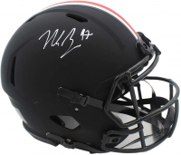 Nick Bosa Signed Ohio State Buckeyes Full-Size Authentic On-Field Eclipse Alternate Speed Helmet (Beckett COA) at PristineAuction.com
