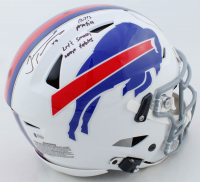 """Tremaine Edmunds Signed Bills Full-Size Authentic On-Field SpeedFlex Helmet Inscribed """"Bills Mafia"""" & """"Let's Smash Some Tables"""" (Beckett COA) at PristineAuction.com"""