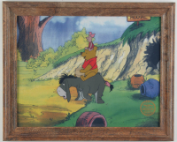 "Walt Disney's LE ""Winnie The Pooh & The Blustery Day"" 13.25x16.25 Custom Framed Animation Serigraph Display at PristineAuction.com"