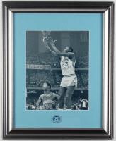 "Michael Jordan North Carolina Tar Heels ""NCAA Final Shot"" 15x22 Custom Framed Photo Display with UNC Tar Heels Pin at PristineAuction.com"