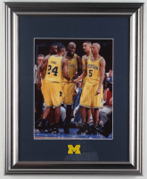 """Michigan Wolverines """"The Fab Five"""" 13.5x16.5 Custom Framed Photo Display With Michigan Wolverines Pin at PristineAuction.com"""