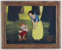 "Walt Disney's LE ""Snow White & the Seven Dwarfs"" 13.5x16.5 Custom Framed Animation Serigraph Display at PristineAuction.com"