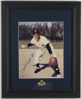 Phil Rizzuto Signed Yankees 13.5x16.5 Custom Framed Photo Display with Official 1994 HOF Induction Pin (PSA COA) at PristineAuction.com