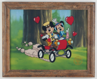 "Walt Disney's Mickey & Minnie Mouse LE ""Nifty Nineties"" 13x16 Custom Framed Animation Serigraph Display at PristineAuction.com"
