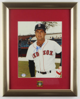 Carl Yastrzemski Signed Red Sox 13x16 Custom Framed Photo Display with 1989 Hall of Fame Induction Pin (PSA COA) at PristineAuction.com