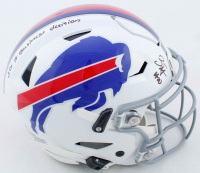 "Zack Moss Signed Bills Full-Size Authentic On-Field SpeedFlex Helmet Inscribed ""It's A Business Decision"" (Beckett COA) at PristineAuction.com"