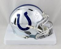 Peyton Manning Signed Colts Chrome Speed Mini-Helmet (Fanatics Hologram) at PristineAuction.com