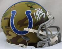 Peyton Manning Signed Colts Camo Alternate Speed Mini-Helmet (Fanatics Hologram) at PristineAuction.com