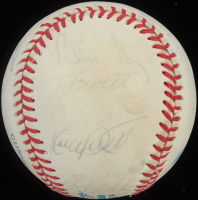 1991 Minnesota Twins OAL Baseball Team-Signed by (28) With Jack Morris, Kirby Puckett, Tom Kelly, Rick Aguilera (JSA LOA) at PristineAuction.com