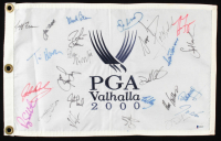 2000 PGA Championship Flag Signed by (26) with Sergio Garcia, Jose Maria Olazabal, John Daly, Hal Sutton (Beckett LOA) at PristineAuction.com