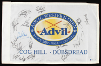 Advil Western Open Flag Signed by (17) with Fred Couples, Jim Furyk, Vijay Singh, Stuart Appleby (Beckett LOA) at PristineAuction.com