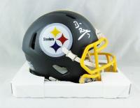 Ben Roethlisberger Signed Steelers Matte Black Speed Mini Helmet (Fanatics Hologram) at PristineAuction.com