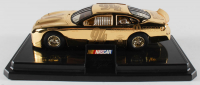 Bill Elliot LE 24kt Gold 1:24 Diecast Car With Platform Display Stand at PristineAuction.com