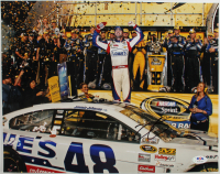 Jimmie Johnson Signed NASCAR 11x14 Photo (PSA Hologram) at PristineAuction.com