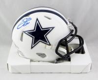 Emmit Smith Signed Cowboys Matte White Speed Mini-Helmet (Beckett COA) at PristineAuction.com