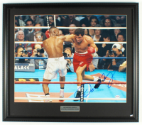 Oscar De La Hoya Signed 21x24 Custom Framed Photo Display (PSA COA) at PristineAuction.com