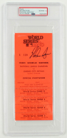 Nolan Ryan Signed 1980 VIP All Access World Series Game Pass (PSA Encapsulated) at PristineAuction.com
