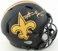 Alvin Kamara Signed Saints Full-Size Eclipse Alternate Speed Helmet (Beckett COA) at PristineAuction.com