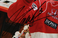 Helio Castroneves Signed Indy 500 Series 11x14 Photo (PSA Hologram) at PristineAuction.com