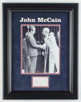 John McCain Signed 16x19 Custom Framed Cut Display (JSA COA) at PristineAuction.com