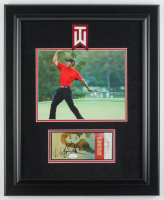 Tiger Woods Signed 17x21 Custom Framed Ticket Display (JSA COA) at PristineAuction.com