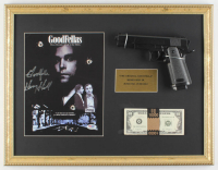 "Henry Hill Signed 17x22 Custom Framed Photo Display Inscribed ""Goodfella"" with Prop Money & Replica Gun (PSA COA) at PristineAuction.com"
