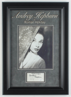 "Audrey Hepburn Signed ""Roman Holiday"" 15x21 Custom Framed Matted Cut Display Inscribed ""Thank You"" (JSA Hologram) at PristineAuction.com"