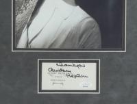 "Audrey Hepburn Signed ""Roman Holiday"" 15x21 Custom Framed Matted Cut Display Inscribed ""Thank You"" (JSA Hologram) at PristineAuction.com"