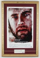 "Tom Hanks Signed ""Cast Away"" 15x22 Custom Framed Cut Display (PSA COA) at PristineAuction.com"