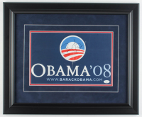 Barack Obama Signed 2008 Presidential 18x22 Custom Framed Campaign Sign Display (JSA LOA) at PristineAuction.com