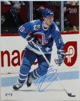 Joe Sakic Signed Nordiques 11x14 Photo (PSA Hologram) at PristineAuction.com