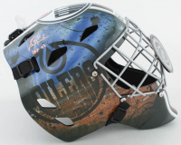 "Grant Fuhr Signed Oilers Full-Size Goalie Mask Inscribed ""HOF 03"" (Schwartz Sports COA) at PristineAuction.com"