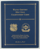 "Wayne Gretzky ""22Kt Gold Cards"" Upper Deck Authenticated Set Booklet With (2) 22Kt Gold Cards at PristineAuction.com"