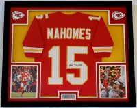 Patrick Mahomes Signed 32x41 Custom Framed Jersey Display with LED Lights (JSA COA) at PristineAuction.com