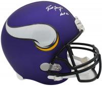 """Brett Favre Signed Vikings Full-Size Helmet Inscribed """"HOF 16"""" (Radtke COA) at PristineAuction.com"""