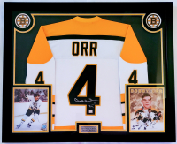 Bobby Orr Signed 32x41 Custom Framed Jersey Display (Great North Road COA) at PristineAuction.com