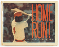 """Baseball Hall of Famers """"Home Run!"""" Hardcover Book Signed by (7) With Hank Aaron, Ernie Banks, Eddie Mathews, Willie Mays, Frank Robinson (PSA LOA) at PristineAuction.com"""