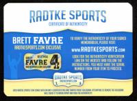 """Brett Favre Signed Vikings Throwback Full-Size Authentic On-Field Helmet Inscribed """"HOF 16"""" (Radtke COA) at PristineAuction.com"""