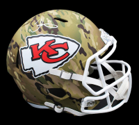Tyreek Hill Signed Chiefs Full-Size Camo Speed Helmet (Radtke COA) at PristineAuction.com