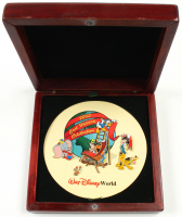 Walt Disney World 2000 Cast Members Only Holiday Set of (5) Pins with Original Wood Box at PristineAuction.com