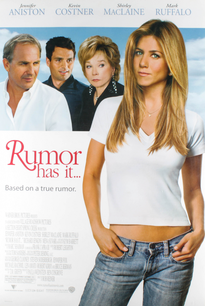 """""""Rumor Has It..."""" 27x40 Original Double Sided Movie Poster at PristineAuction.com"""