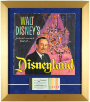 1965 Disneyland 15x17 Custom Framed Souvenir Guide & Vintage Ticket Book Display at PristineAuction.com