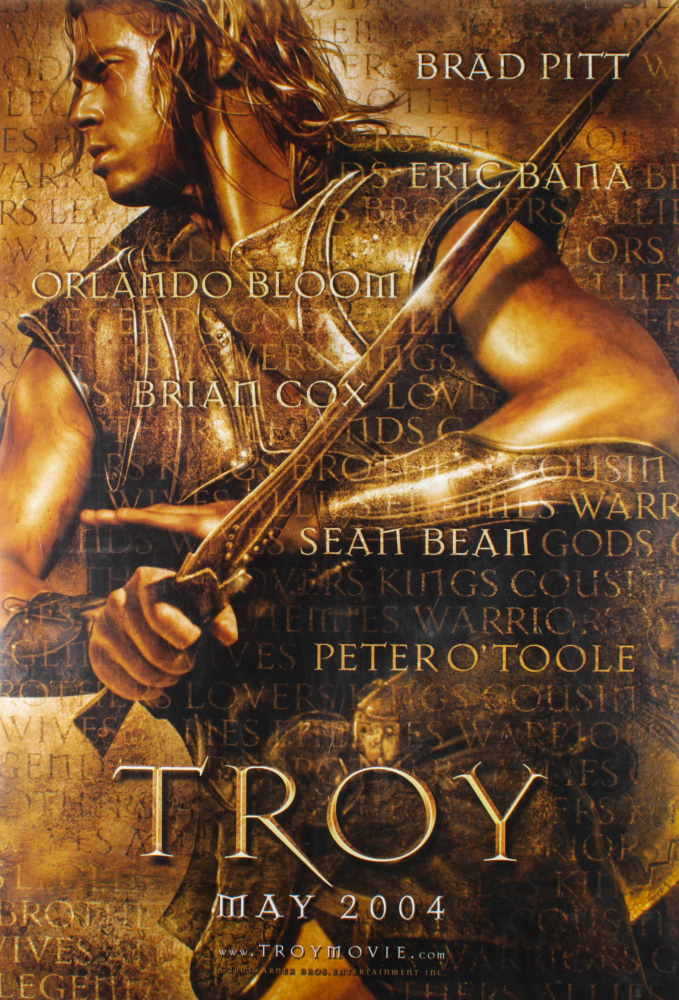 """""""Troy"""" 27x40 Teaser Double Sided Movie Poster at PristineAuction.com"""