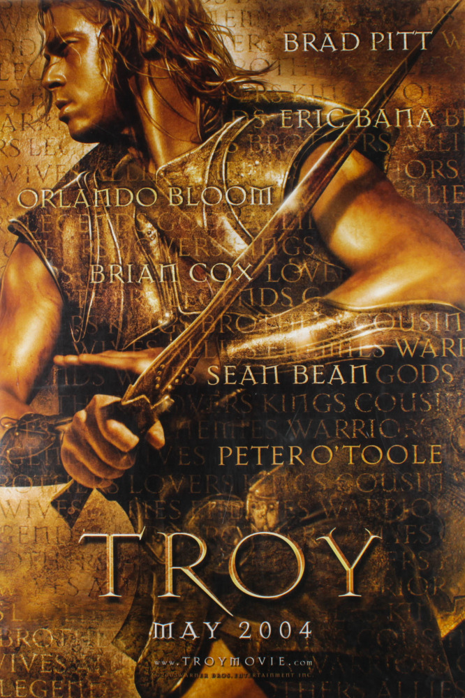 """Troy"" 27x40 Teaser Double Sided Movie Poster at PristineAuction.com"