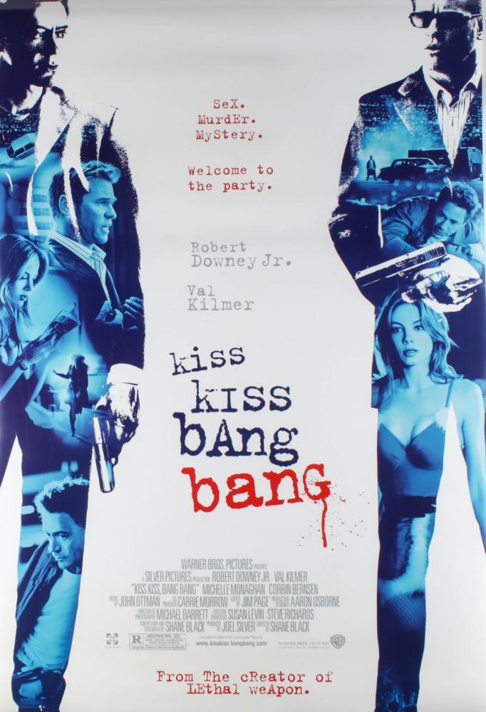 """""""Kiss Kiss Bang Bang"""" 27x40 Original Double Sided Movie Poster at PristineAuction.com"""