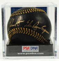 "Nolan Ryan Signed Black Leather OML Baseball Inscribed ""The Ryan Express"" (PSA COA - Graded 10) at PristineAuction.com"