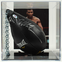 Mike Tyson Signed Everlast Boxing Speed Punching Bag With Display Case (PSA COA) at PristineAuction.com