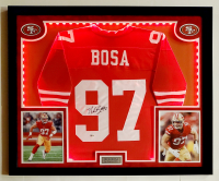 Nick Bosa Signed 32x41 Custom Framed Jersey Display with LED Lights (Beckett COA) at PristineAuction.com