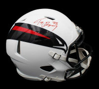 Tony Gonzalez Signed Falcons Full-Size AMP Alternate Authentic On-Field Speed Helmet (Radtke COA) at PristineAuction.com