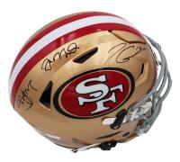 Joe Montana, Steve Young, & Jimmy Garappolo Signed 49ers Full-Size Authentic On-Field SpeedFlex Helmet (Radtke COA) at PristineAuction.com